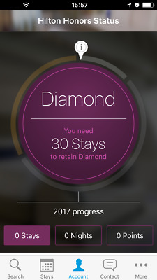 3 pack Hilton Diamond Status (90 days trial , can be extended to Mar 2020)