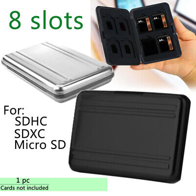 Memory Card Box Case Holder For 8 Micro SD SDHC TF Cards Waterproof Storage