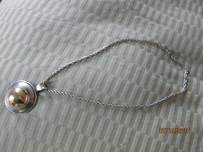 James Avery Hammered dome ss/14k Pendant whit 16' James Avery chain nice