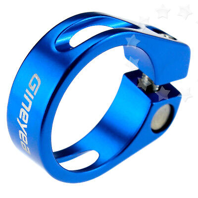 34.9mm Aluminum Alloy MTB Bike Bicycle Cycling Blue Saddle Seat Post Clamp