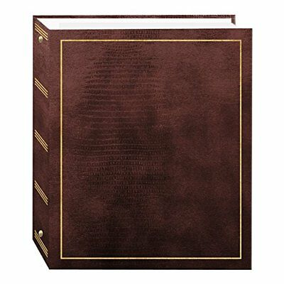 Magnetic SelfStick 3Ring Photo Album 100 Pages (50 Sheets), Brown