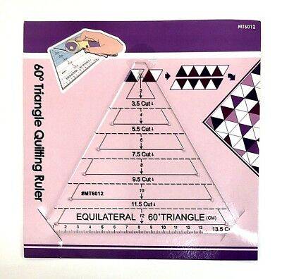 Multi Size 60 Degree Triangle Template for Patchwork/English Paper Piecing