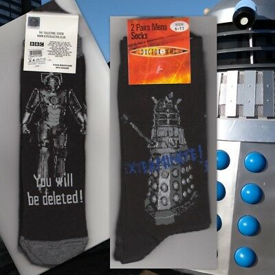 NEW Doctor Who socks! 2 pairs for £4.50! Choose yours! David Tennant era.