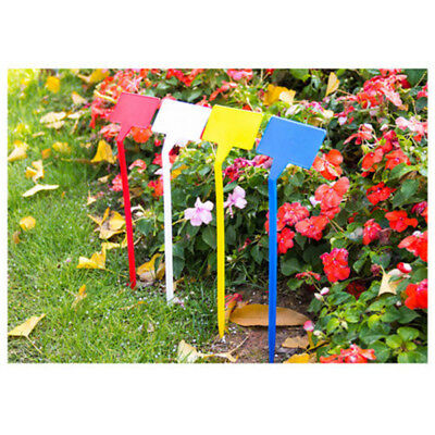 5x T-Type Upturned Marker Plant Labels Tags Plastic Seed Nursery Garden Stick