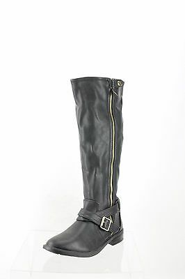 3fbd48e0472 Dolce Vita Clarity Black Leather Knee High Boots Women s Shoes Size 8 M NEW