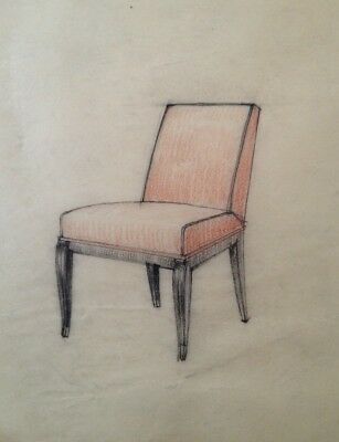 Dessin Original Art Deco  Fauteuil De Decorateur De Jacques Adnet ?  (20)
