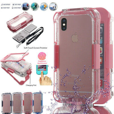 Waterproof Shockproof Hybrid Rubber TPU Case Cover For IPhone X XS Max XS