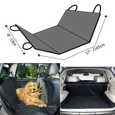 Waterproof Car Seat Cover Pet Dog Rear Back Hammock Travel SUV Van Protector Mat