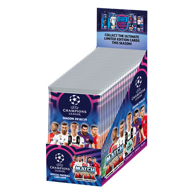 2018 2019 Topps UEFA Champions League Soccer Match Attax 30 x Packs Sealed Box