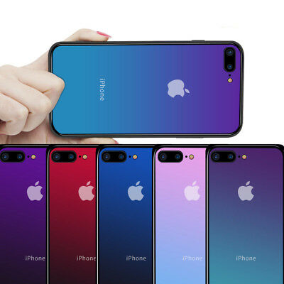 For iPhone 6 7 8 Plus XS MAX Shockproof Glass Silicone Cover Case +Tempered Film