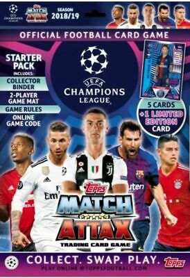 2018/2019 Topps UEFA Champions League Match Attax Starter Pack + Limited Edition