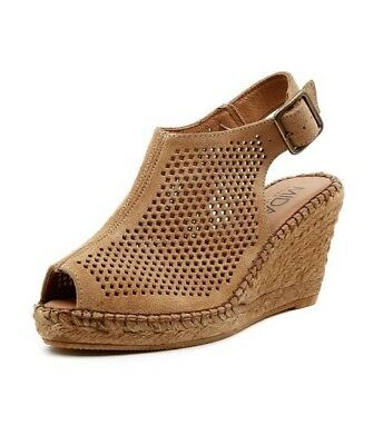 """""""Mindy"""" Beige Leather Wedge Sandal by MIDAS - Size 38, excellent condition"""