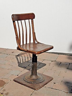 Vintage Industrial Farmhouse Cast Iron Pedestal CHAIR  French Country Boston MA
