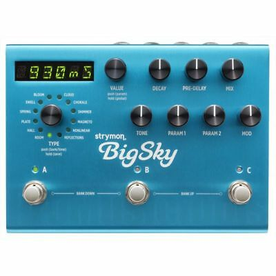 Strymon Big Sky * NEW * multi reverb programmable studio quality effects pedal