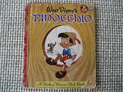 Vintage 1948 Mickey Mouse Club Book #D8  Pinocchio