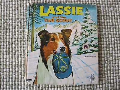 Vintage 1966 Tell A Tale Book Lassie And The Cub Scout by Florence Mickelson