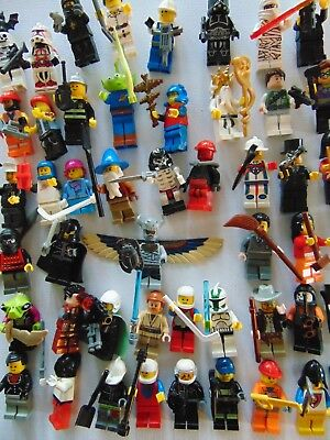10 x Lego Minifigures  All With Accessories Mini Figures Star Wars Etc