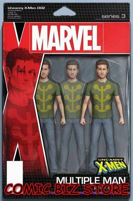 Uncanny X-Men #2 (2018) 1St Printing Christopher Action Figure Variant Cover
