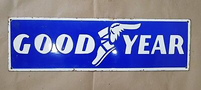 GOODYEAR 24 X 7 INCHES Porcelain Enamel Sign