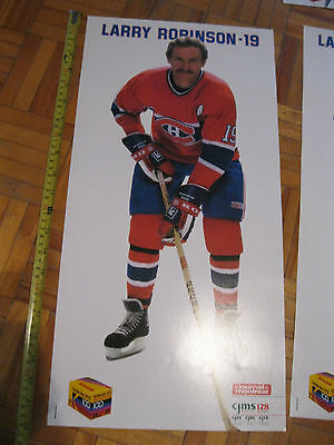 Vintage Larry Robinson #19 - Montreal Canadiens Poster - 22 inches by 11 inches