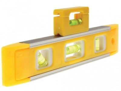 "MAGNETIC SPIRIT LEVELS LEVEL 22.5cm / 9"" TORPEDO WITH  MINI 2""  BRICK LINE LEVEL"