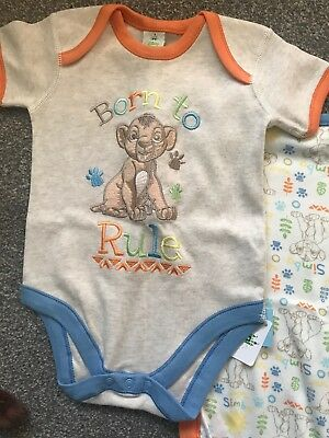 2 X Lion King 6-9 Months Body Suits NWOT