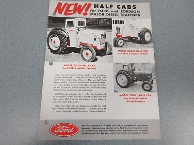 Ford Half Cabs for Ford & Fordson Tractors Sales Sheet    1955            lw