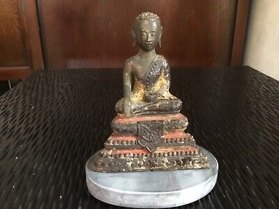 Antike Buddha Tempel Figur aus Bronze Burma China Japan