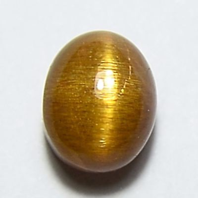 1.75 Cts 100%Natural Salmon Cat's Eye Sunstone Oval Cabochon Loose Gemstone