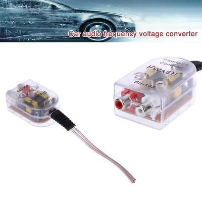 1PC Car High Low Impedance Converter Adapter Speaker Output to RCA Line Control