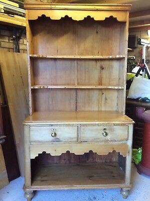 Pretty Victorian Pine Dresser Of Small Proportions