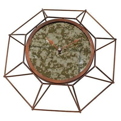 Foreside Home and Garden Geo Antique Bronze Table Clock
