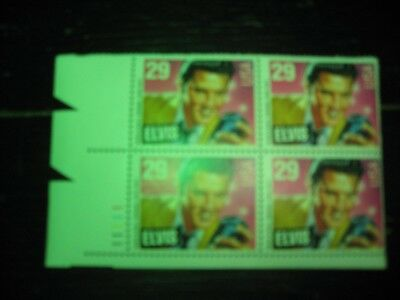 U.S. Postage Stamps Elvis Block of 4 Numbered 29 cent .New