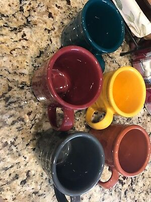Longaberger Pottery Woven Tradition Coffee Tea Cider Mugs Cups - 5 Colors