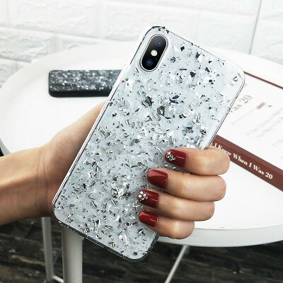 For iPhone 11 Pro Max XS Max XR X 8 7 6 Glitter Thin Silicone Pattern Case Cover