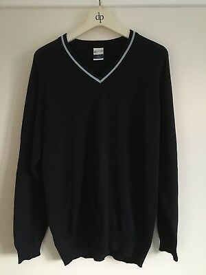 Performa V-neck School Jumper Navy blue. Large, Chest 38-40 Inches.