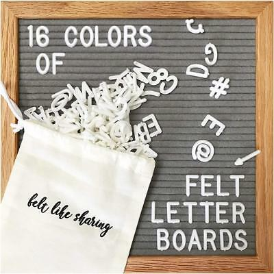 Gray Felt Letter Board 10x10 Inches. Changeable Boards Include 300 White...