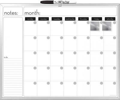 The Board Dudes 16X20-Inches Aluminum Framed Magnetic Dry-Erase Calendar...