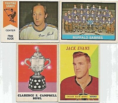 Vintage Lot Of [4]-Buffalo CL-Evans-Huck-Clarence Campbell Trophy