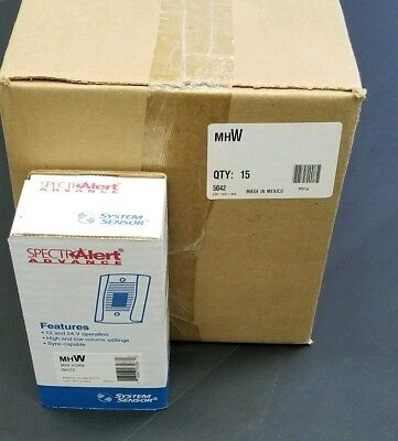 Case of 15 System Sensor Spectra Alert Advance MHW Mini Horns White New in Box