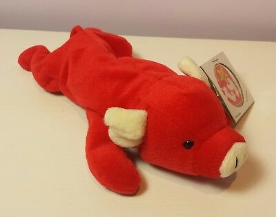 1501f43c908 NWT TABASCO the Red Bull Ty Beanie Baby 3rd generation tush new with tag  Snort