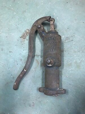 Vintage Hand Water Pump With Anchor Symbol Dated July 11, 1882
