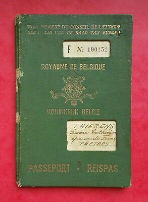 Belgian Congo 1955 passport travel document issued at Leopoldville