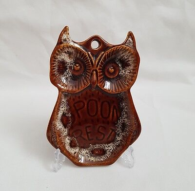 SALE ❀ڿڰۣ❀ FOSTERS POTTERY Vintage OWL Honeycombe Glaze Ceramic SPOON REST ❀ڿڰۣ❀