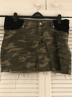 Topshop Camouflage Maternity Skirt 14