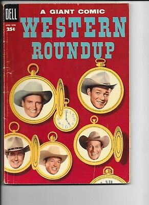 Dell Giant   Western Roundup  #10