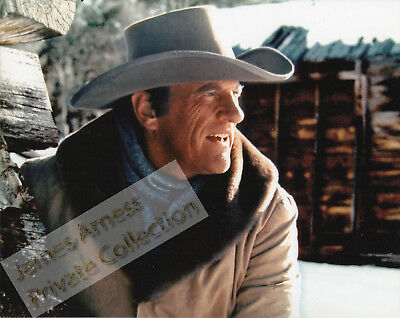 "James Arness Gunsmoke Marshal Dillon ""Snow Train"" Close Up Color 8 x 10"