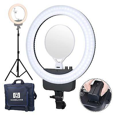 "Nanguang LED 16""  Bi-color Dimmable Ring Light and Stand,Cellphone"