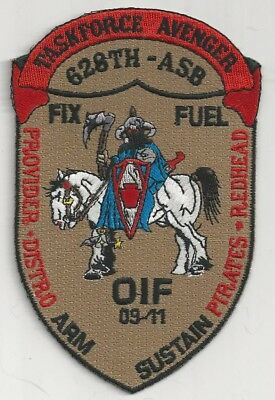 Us Army 628Th Aviation Support Bn Patch-  'taskforce Avenger'  Oif 09-11'  Color