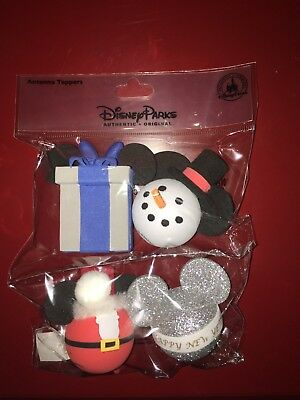 DISNEY PARKS Mickey Mouse Holiday CHRISTMAS Antenna Toppers Set of 4 NIP